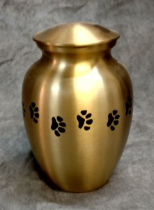 Paw Print Gold Brass Urn $75.00 various sizes