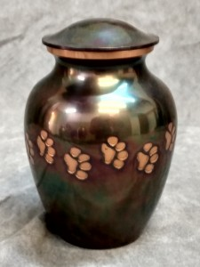 Copper Paw Print Urn $75.00 - various sizes