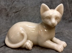Plaster Laying Cat Urn $90.00