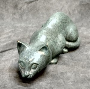 Brass Figurine Cat Urn $90.00
