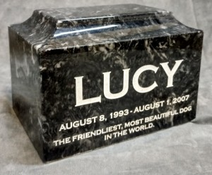 Black Marble Urn $210.00 (engraving $50+) XL $300.00