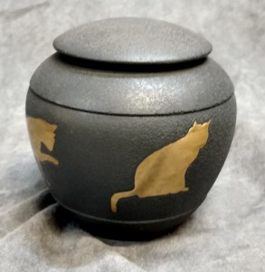 Cat Silhouette Urn - various colors $79