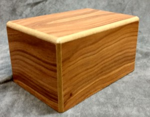 Oak MDF Rectangle Urn $55.00